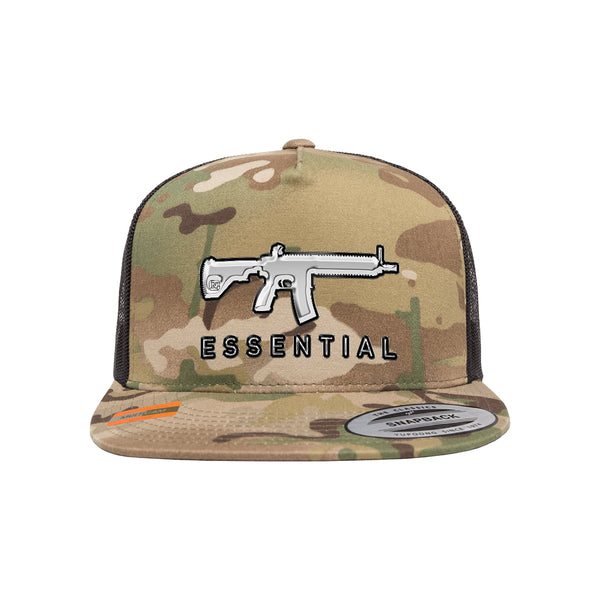 AR-15s Are Essential 3D Chrome Arid Trucker Hat Snapback