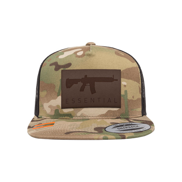 AR-15s Are Essential Leather Patch Arid Trucker Hat Snapback