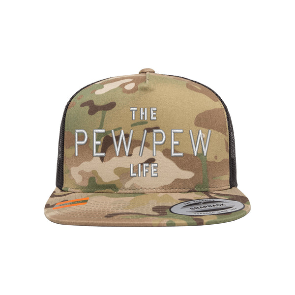 The Pew/Pew Life Tactical Arid Trucker Hat Snapback