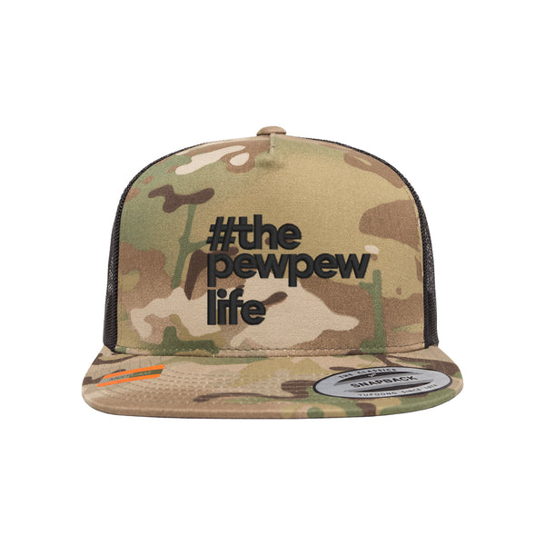 #ThePewPewLife Tactical MultiCam Trucker Hat Snapback