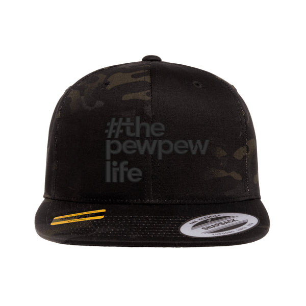 #ThePewPewLife Tactical Black MultiCam Hat Snapback