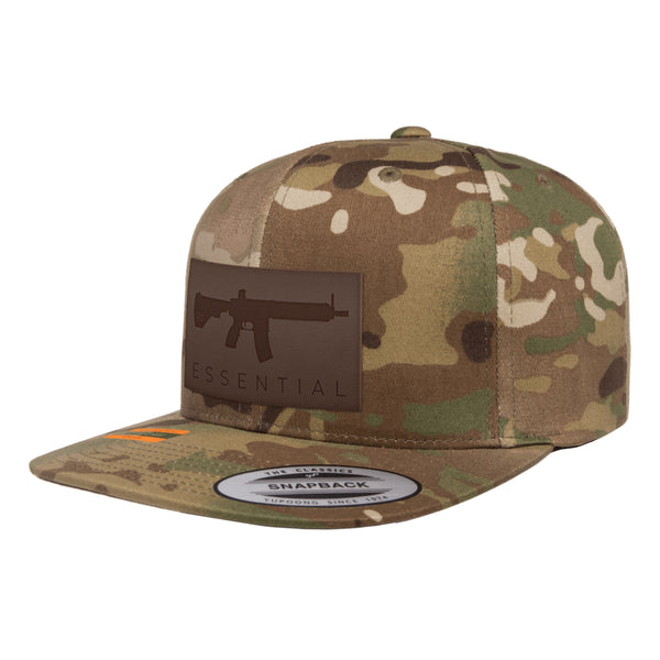 AR-15s Are Essential Leather Patch Arid MultiCam Snapback