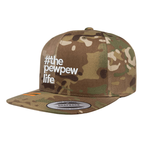 #ThePewPewLife Tactical MultiCam Hat Snapback