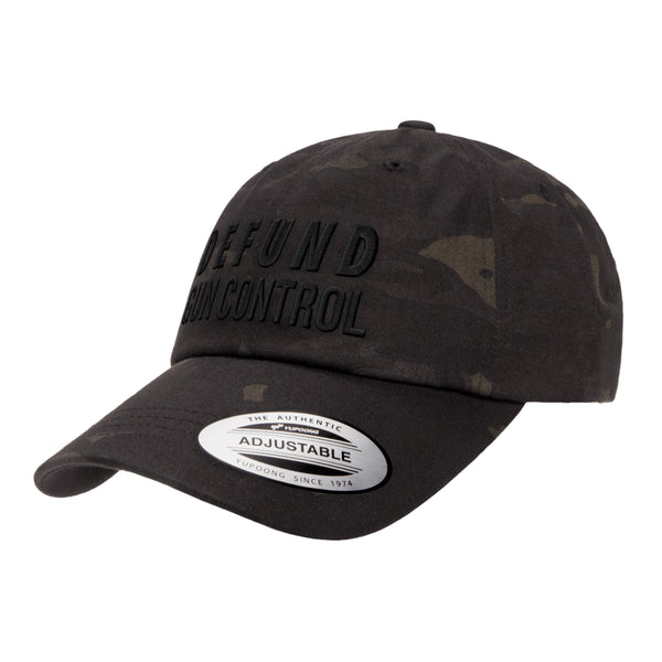 Defund Gun Control Dad Hat Tactical Black MultiCam