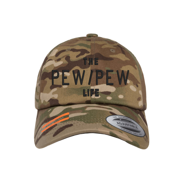 The Pew/Pew Life Tactical MultiCam Adjustable FlexFit Hat