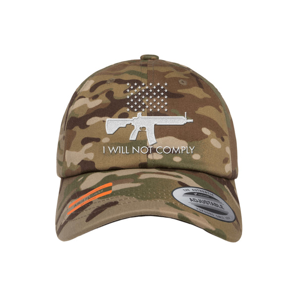 I Will NOT Comply Dad Hat Tactical MultiCam