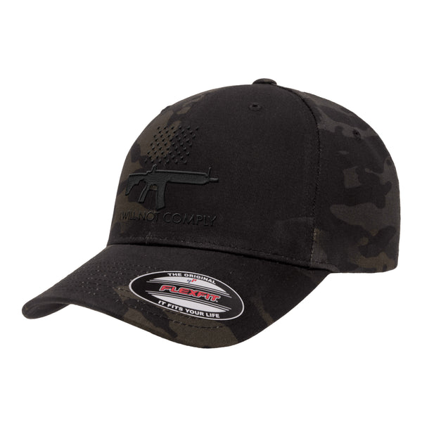 I Will NOT Comply FlexFit Hat Tactical Black MultiCam