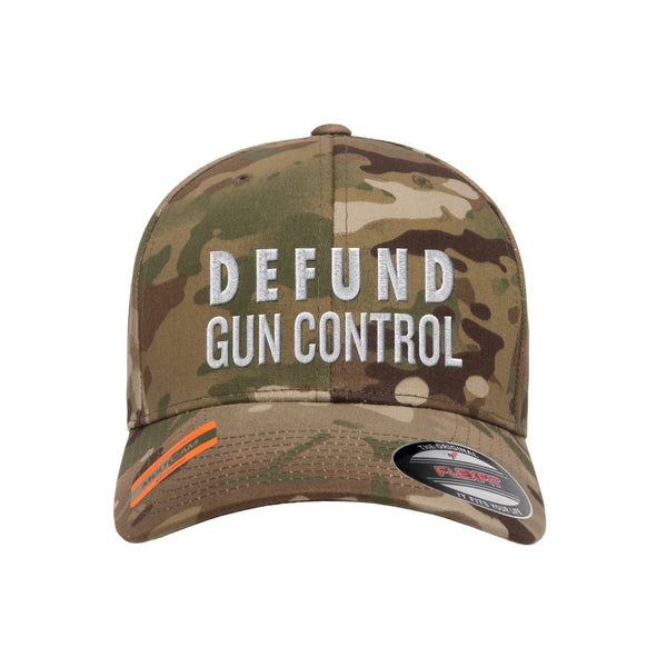 Defund Gun Control Tactical MultiCam Hat FlexFit