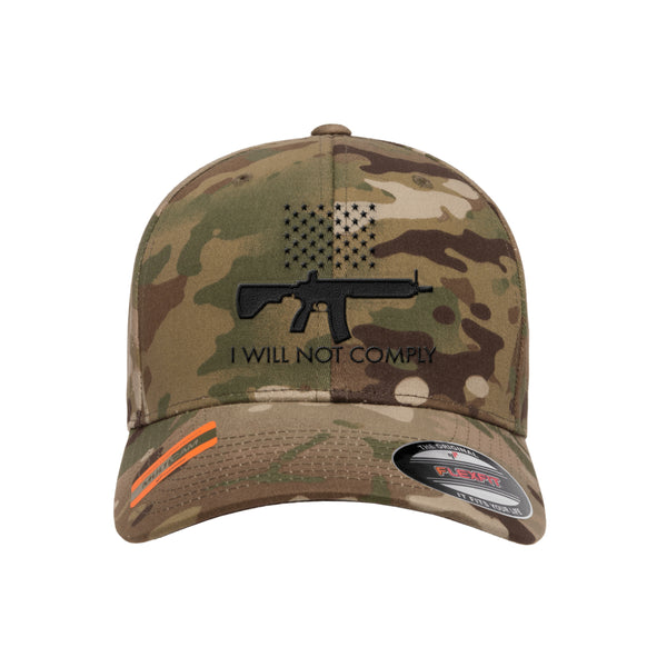 I Will NOT Comply Tactical MultiCam Hat FlexFit