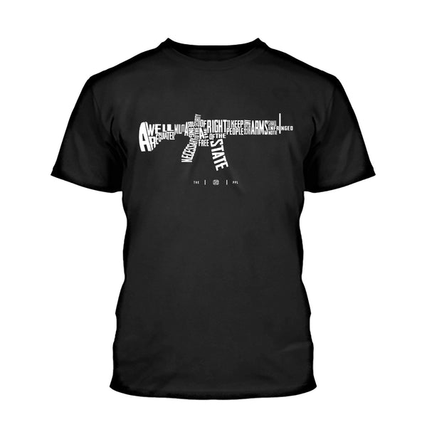 second amendment rifle shirt black