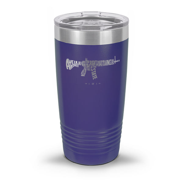 AR-15's are protected by the Second Amendment Laser Etched 30oz/20oz Tumbler