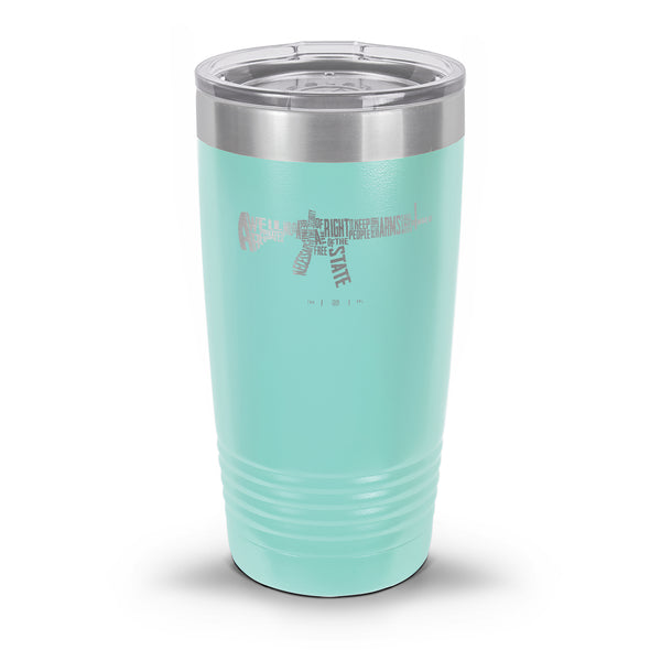 AR-15's are protected by the Second Amendment Laser Etched Tumbler