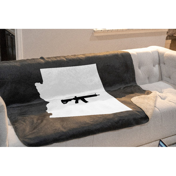 Keep Arizona Tactical Sherpa Throw Blanket