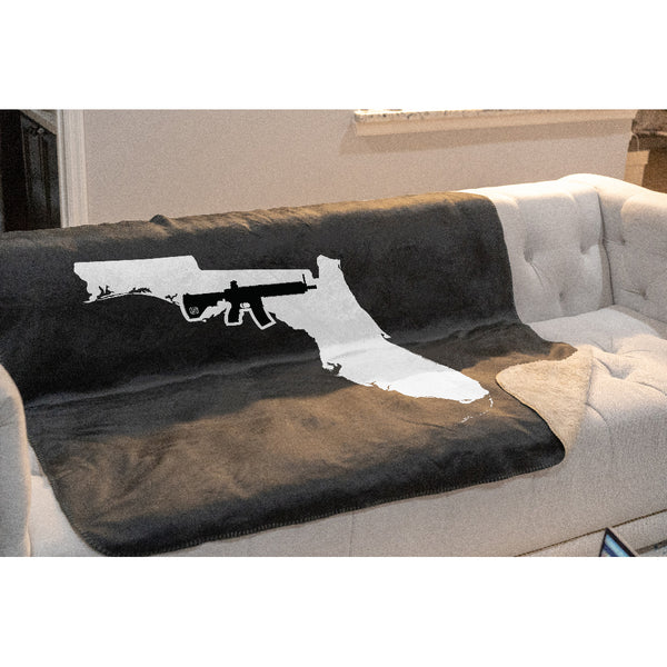 Keep Florida Tactical Sherpa Throw Blanket