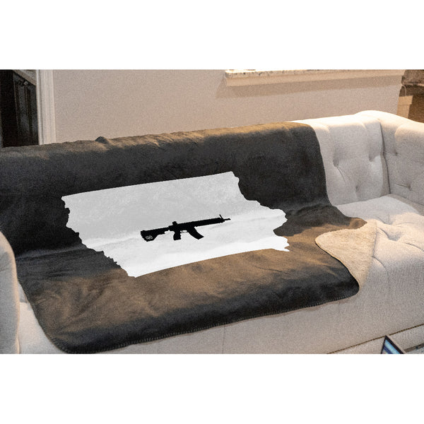 Keep Iowa Tactical Sherpa Throw Blanket