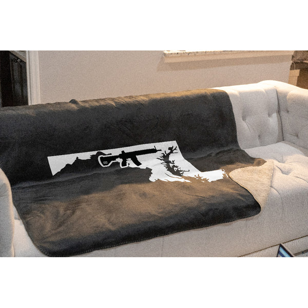 Keep Maryland Tactical Sherpa Throw Blanket