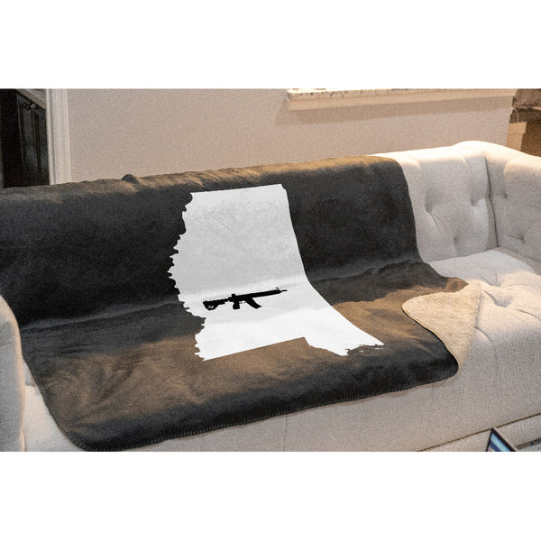 Keep Mississippi Tactical Sherpa Throw Blanket