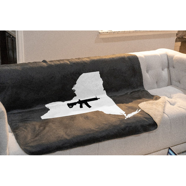 Keep New York Tactical Sherpa Throw Blanket
