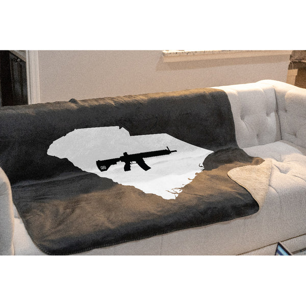 Keep South Carolina Tactical Sherpa Throw Blanket