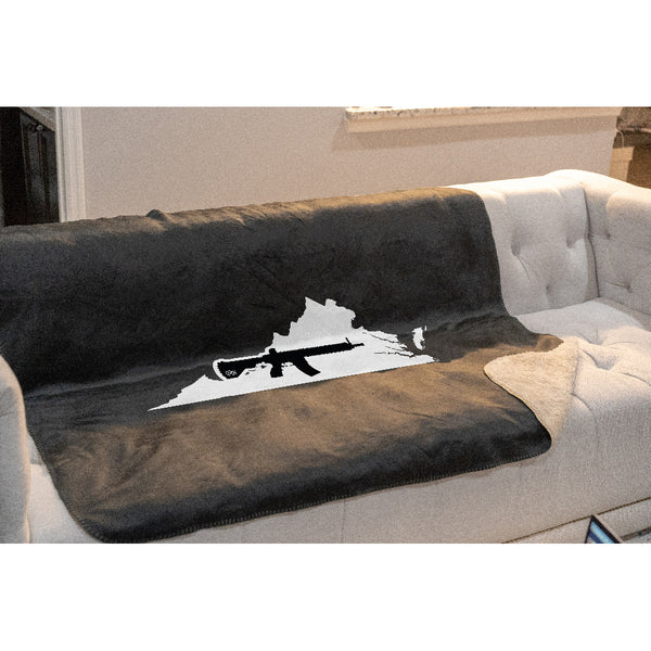 Keep Virginia Tactical Sherpa Throw Blanket