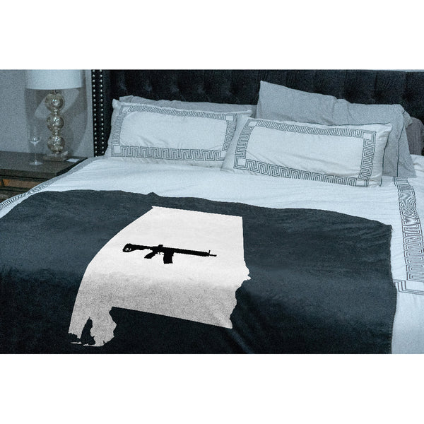 Keep Alabama Tactical Sherpa Throw Blanket