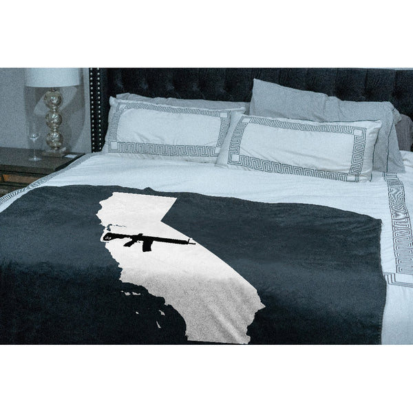 Keep California Tactical Sherpa Throw Blanket