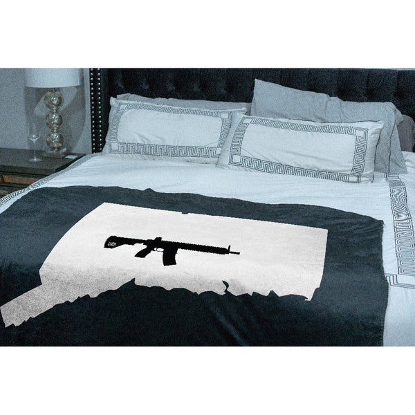 Keep Connecticut Tactical Sherpa Throw Blanket