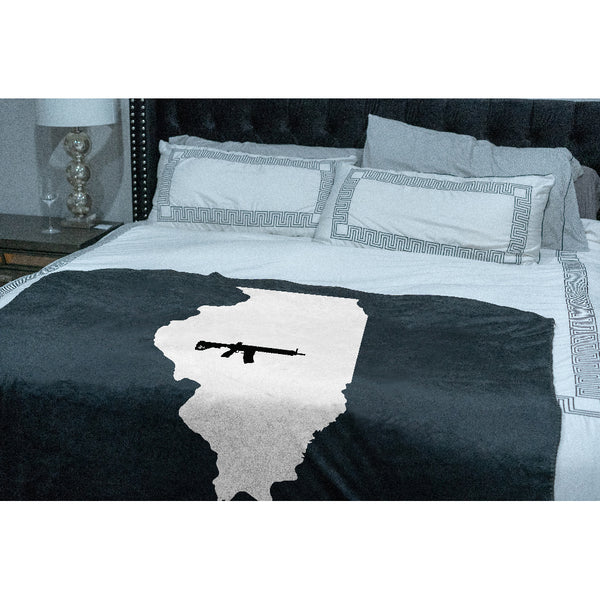 Keep Illinois Tactical Sherpa Throw Blanket