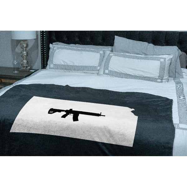 Keep Kansas Tactical Sherpa Throw Blanket