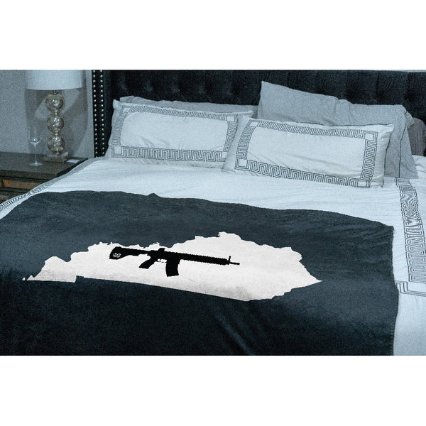 Keep Kentucky Tactical Sherpa Throw Blanket