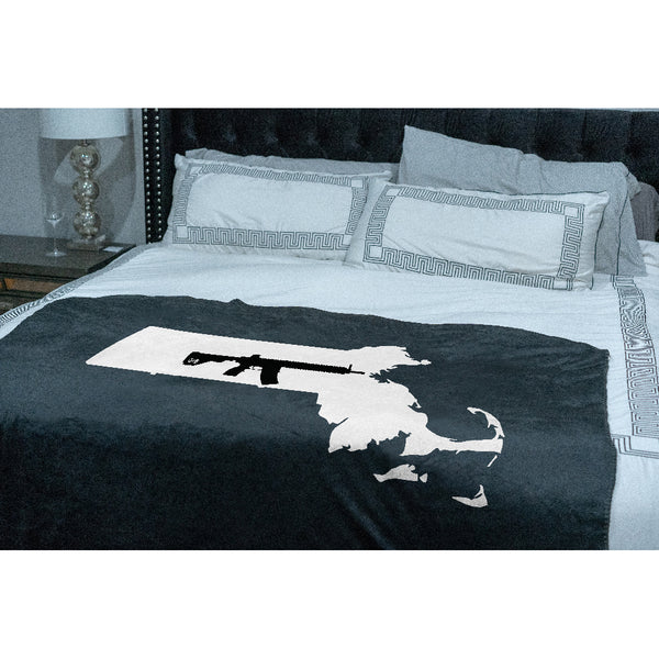 Keep Massachusetts Tactical Sherpa Throw Blanket