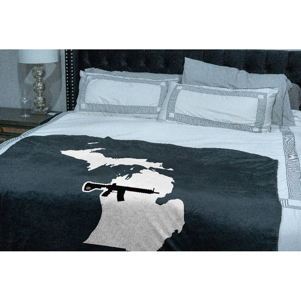 Keep Michigan Tactical Sherpa Throw Blanket