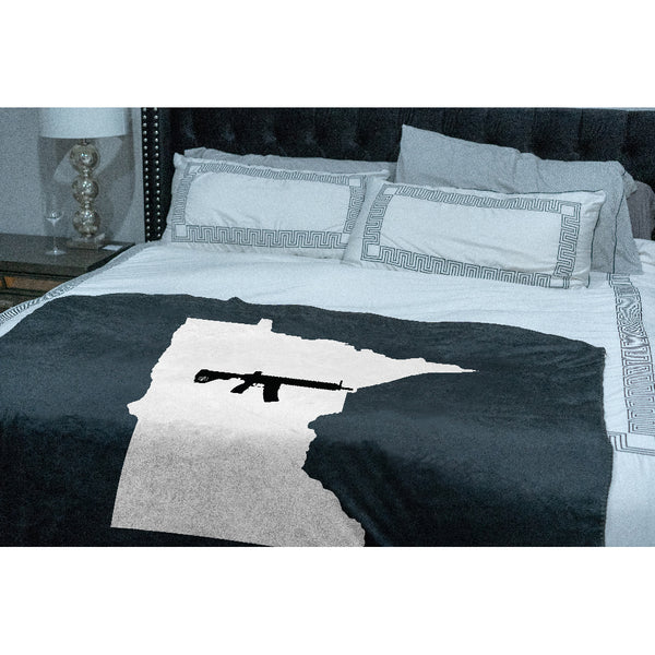 Keep Minnesota Tactical Sherpa Throw Blanket