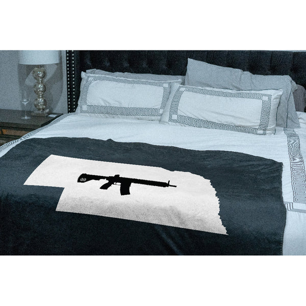 Keep Nebraska Tactical Sherpa Throw Blanket
