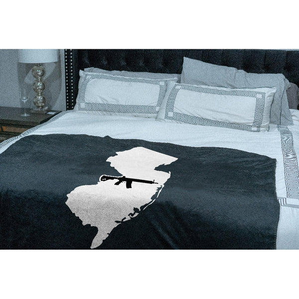 Keep New Jersey Tactical Sherpa Throw Blanket