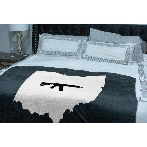 Keep Ohio Tactical Sherpa Throw Blanket