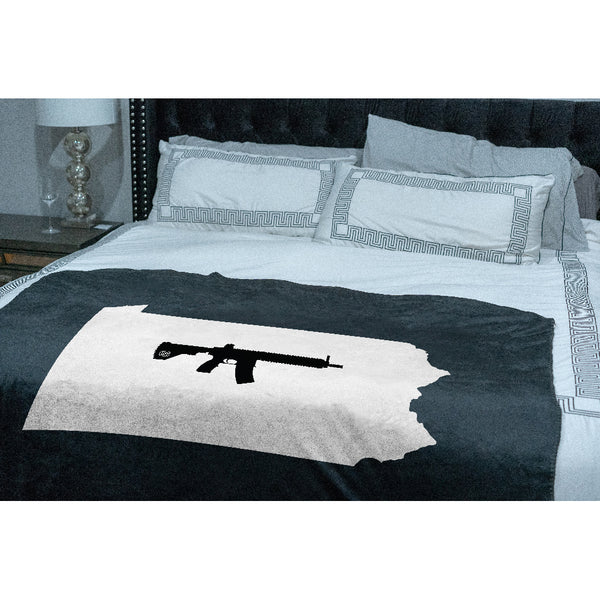 Keep Pennsylvania Tactical Sherpa Throw Blanket