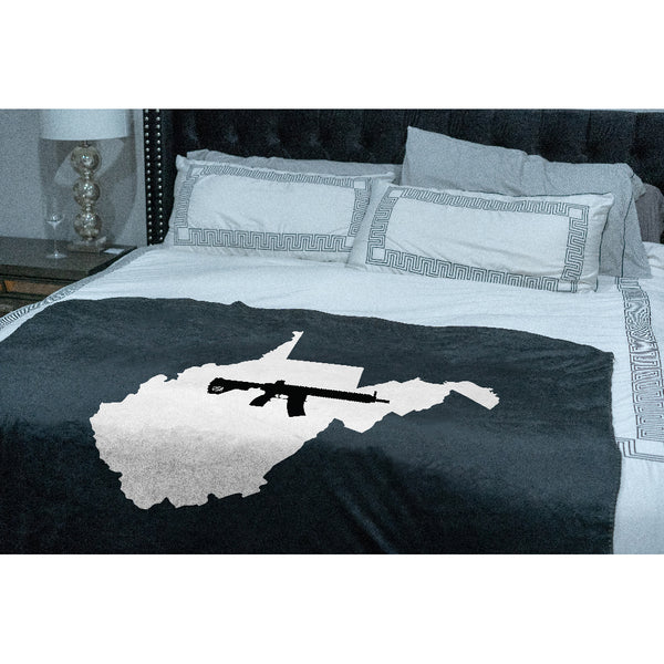 Keep West Virginia Tactical Sherpa Throw Blanket