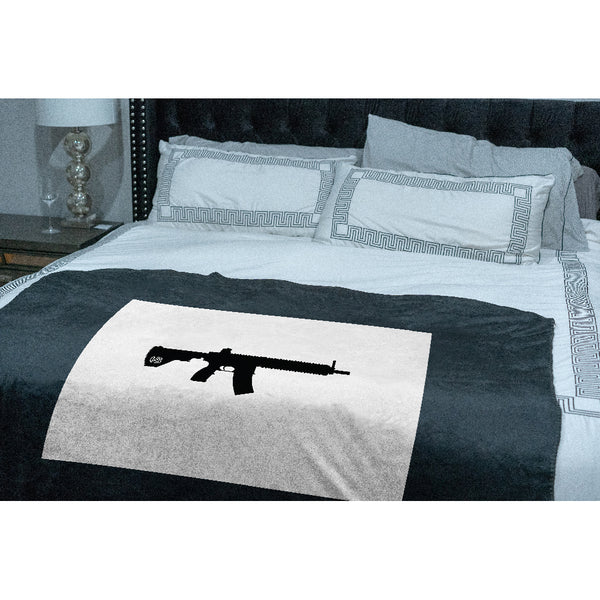 Keep Wyoming Tactical Sherpa Throw Blanket