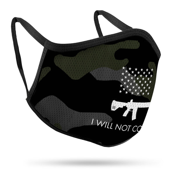 I Will NOT Comply Performance Face Mask