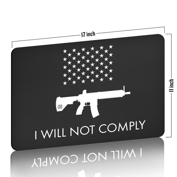 I Will NOT Comply with AR-15 Ban Gun Cleaning Mat
