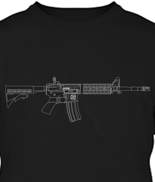 AR-15 Beauty in Lines Long Sleeve