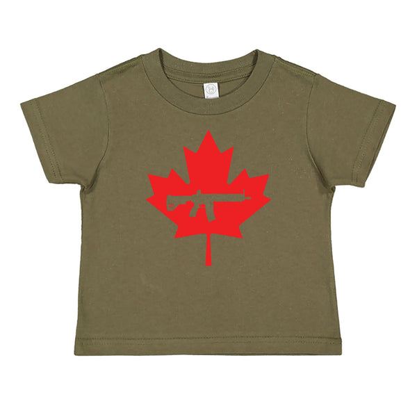 Keep Canada Tactical Maple Leaf Toddler Tee