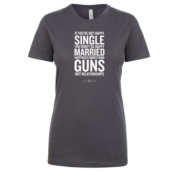 Happiness Comes From Guns Women's Shirt