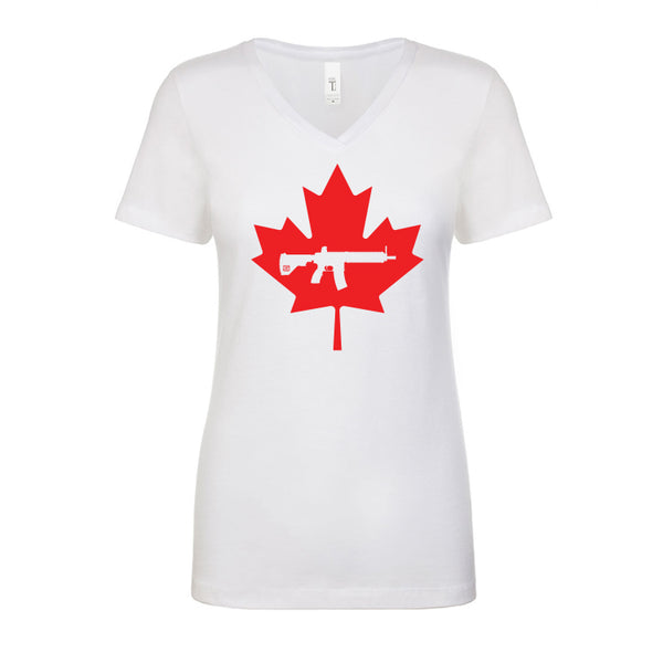 Keep Canada Tactical Maple Leaf Women's V Neck