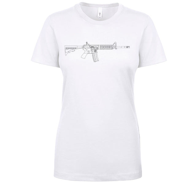 AR-15 Beauty in Lines Women's Shirt