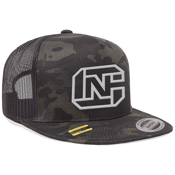 CN Logo Tactical Black MultiCam Trucker Hat Snapback