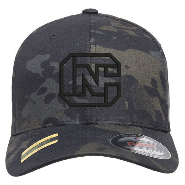 CN Logo Tactical Black MultiCam Hat FlexFit