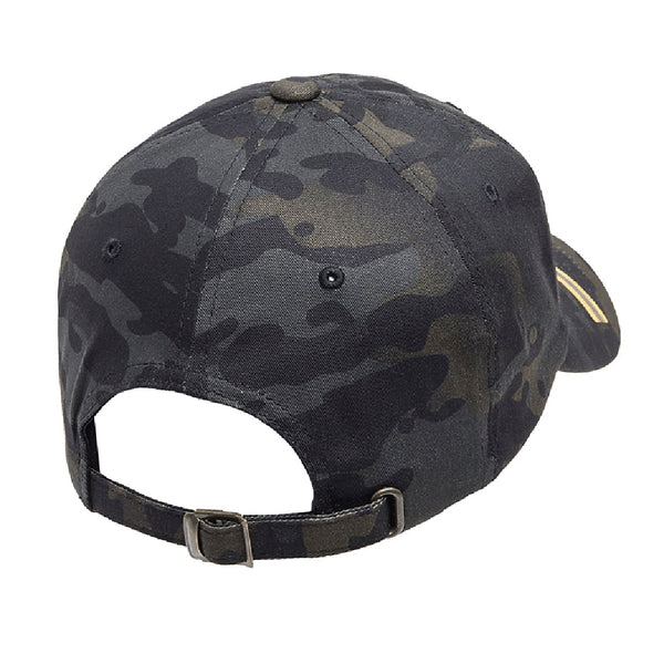 The Pew/Pew Life Tactical Black MultiCam Adjustable FlexFit Hat