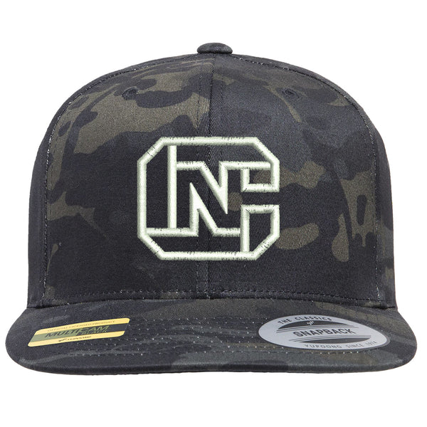 CN Logo Tactical Black MultiCam Hat Snapback